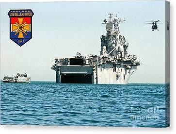 Operation Iraqi Freedom Canvas Print - Uss Belleau Wood Lha 3 by Baltzgar