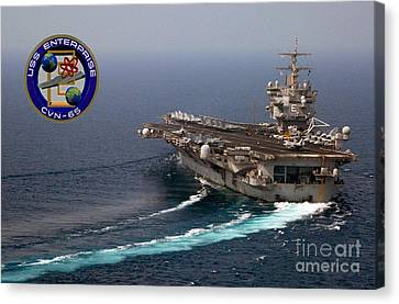 Enterprise Canvas Print - Uss Enterprise by Baltzgar