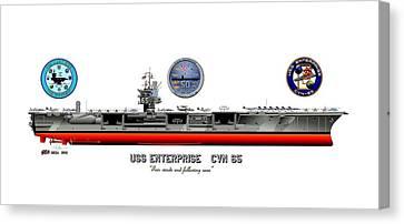 Uss Enterprise Cvn 65 2012 Canvas Print by George Bieda