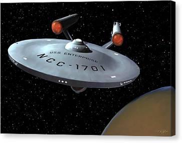 Uss Enterprise Canvas Print by Paul Tagliamonte