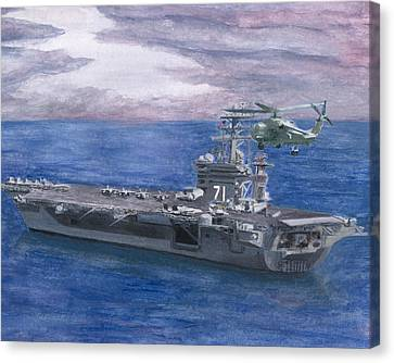 Uss Roosevelt Canvas Print by Sarah Howland-Ludwig