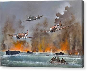 Airoplane Canvas Print - Utah Beach- June 6th 1944 by Ken Wood