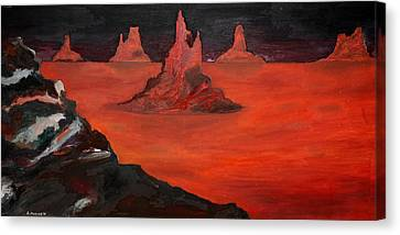 Utah Evening Canvas Print by Robert Handler