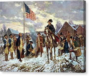 Valley Forge, 1777 Canvas Print