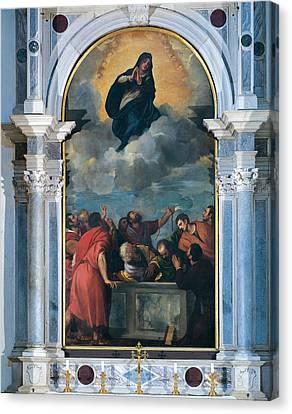Vecellio Tiziano Known As Titian Canvas Print by Everett