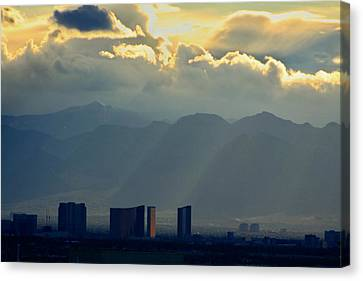 Vegas Sunset After The Storm Canvas Print