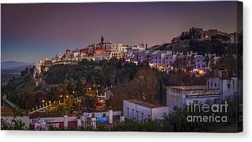 Vejer De La Frontera Panorama Cadiz Spain Canvas Print