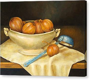 Venetian Table Canvas Print by Pamela Allegretto