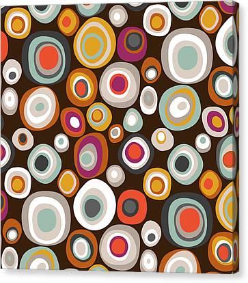Pattern Canvas Print - Veneto Boho Spot Chocolate by Sharon Turner