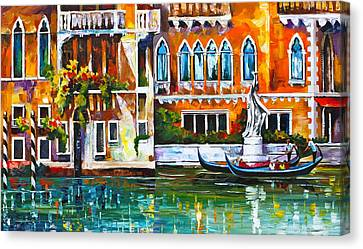 Venice Canal Canvas Print by Leonid Afremov