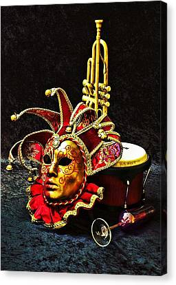 Canvas Print featuring the photograph Venitian Joker 2 by Elf Evans