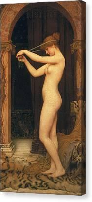 Venus Binding Her Hair Canvas Print by John William Godward