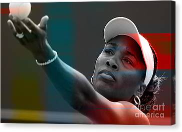 Venus Williams Canvas Print by Marvin Blaine