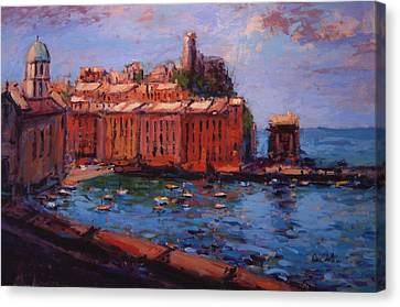 Vernazza From The Train Canvas Print by R W Goetting