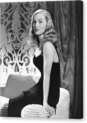 1940s Hairstyles Canvas Print - Veronica Lake, Ca. Early 1940s by Everett