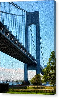 Verrazano Bridge Canvas Print by Boris Mordukhayev