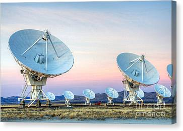 Very Large Array Of Radio Telescopes  Canvas Print by Bob Christopher