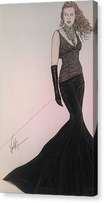 Nicole Kidman Canvas Print by Vicki  Jones