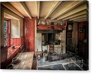 Kitchen Chair Canvas Print - Victorian Cottage by Adrian Evans
