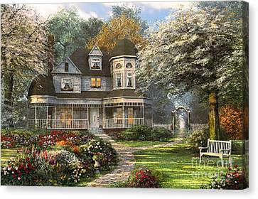 Victorian Home Canvas Print by Dominic Davison