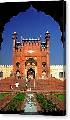 Punjab Canvas Print - View From The Arch Of Badshahi Masjid by Yasir Nisar