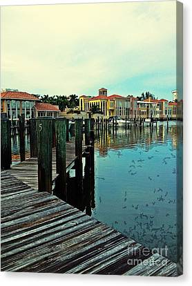 View From The Boardwalk  Canvas Print by K Simmons Luna