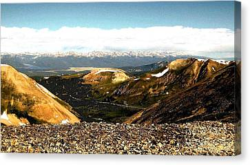 View From The Top Canvas Print by Claudette Bujold-Poirier