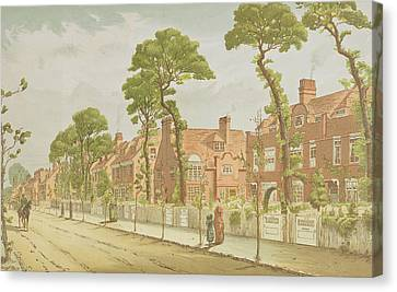 View Of Bedford Park, 1882 Canvas Print by English School