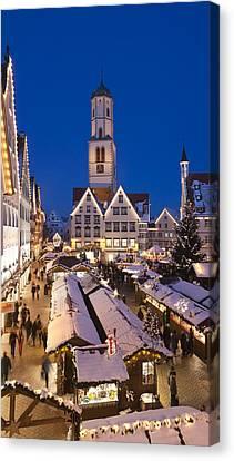 View Of Christmas Fair At St. Martins Canvas Print