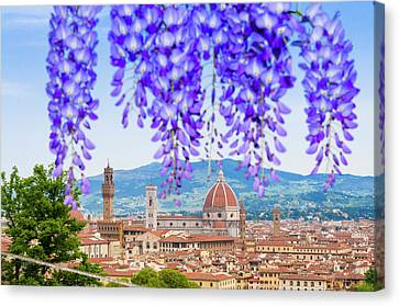 View Of City Center Of Florence Canvas Print