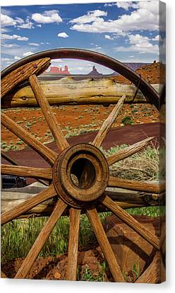 View Of Monument Valley From Venerable Canvas Print