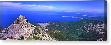 View Of Mount Capanne, Island Of Elba Canvas Print by Panoramic Images