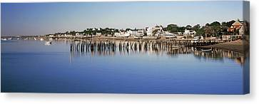 View Of Pier In Ocean, Provincetown Canvas Print by Panoramic Images