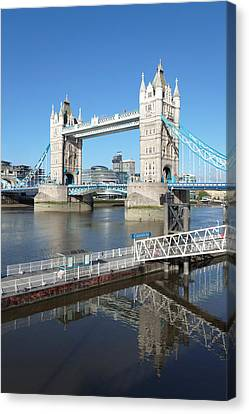 View Of St. Katharine Pier And Tower Canvas Print by Panoramic Images
