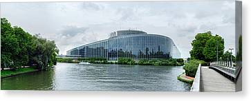 Rhin Canvas Print - View Of The European Parliament by Panoramic Images