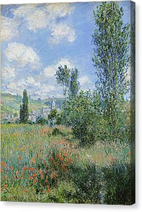 View Of Vetheuil Canvas Print by Claude Monet