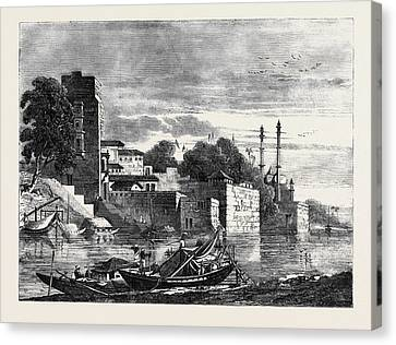 View On The Ganges Canvas Print by English School