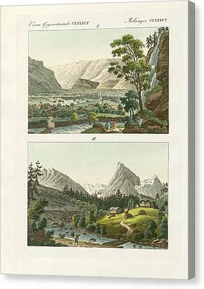 Views Of Switzerland Canvas Print