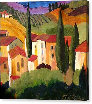 Villas Of Tuscany  Canvas Print by Therese Fowler-Bailey