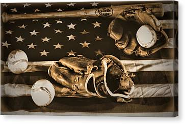 Vintage Baseball Canvas Print