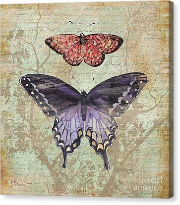Vintage Butterfly Iv Canvas Print by Paul Brent