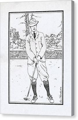 Vintage Golfer Canvas Print