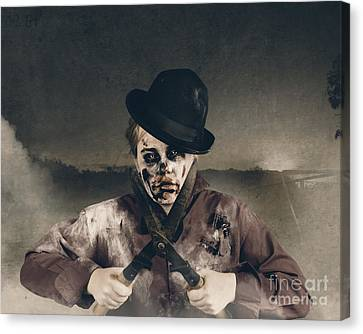 Vintage Horror. Dawn Of The Dead Hedge Canvas Print by Jorgo Photography - Wall Art Gallery