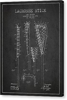 Goalie Canvas Print - Vintage Lacrosse Stick Patent From 1908 by Aged Pixel