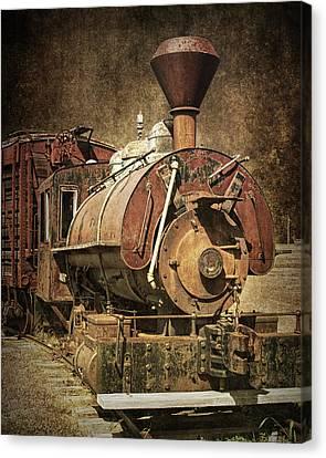 Vintage Locomotive Train Engine Canvas Print