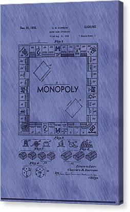 Vintage Monopoly Game Patent Canvas Print