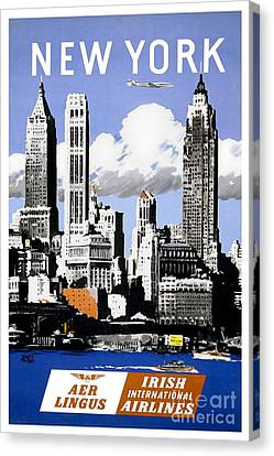 Nostalgia Canvas Print - Vintage New York Travel Poster by Jon Neidert