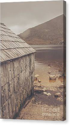 Vintage Photo Of An Australian Boat Shed Canvas Print by Jorgo Photography - Wall Art Gallery