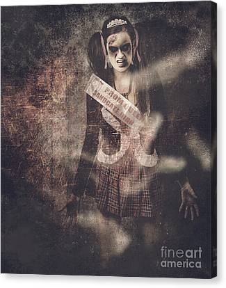 Abandoned Homes Canvas Print - Vintage Photograph Of A Dead Zombie Prom Queen by Jorgo Photography - Wall Art Gallery