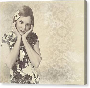 Vintage Photograph Of A Vintage Hollywood Actress Canvas Print by Jorgo Photography - Wall Art Gallery